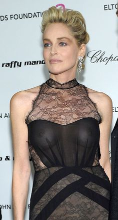 Sharon Stone See Through Dress on the Premier. Beautiful Celebrities, Beautiful Actresses, Most Beautiful Women, Amazing Women, Sharon Stone Photos, Sexy Older Women, Up Girl, Belle Photo, Celebs