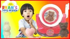 Chocolate Candy Make Your Own Japanese Candy For Kids Bear Bunny Egg Family Fun Toy Ryan ToysReview - YouTube