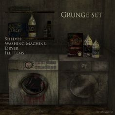 Sims 4 CC's - The Best: TS2 Grunge Laundry Set Conversion by Mimoto