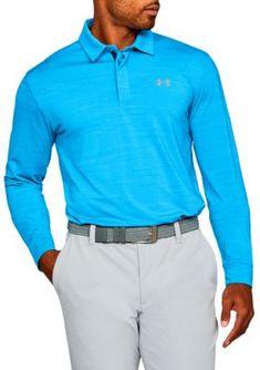 adb5a2c1d668 Under Armour Men s Playoff Long Sleeve Polo Shirt - Blue - 2Xl