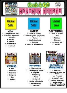 Monthly Word Walls allow kids to access words all around the classroom. Low prep- Just print and laminate. Tons of engaging themes! Get a listing of all the monthly themes available in the Growing Bundle.