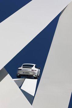 Gerry Judah's sculpture for the Porsche Museum in Stuttgart Germany