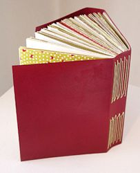 Eileen Wallace's leather long-stitch journal