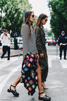 Milan Fashion week - with granny square wrap