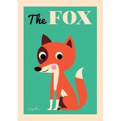 """Affiche """"The Fox"""" par Ingela P Arrhenius - Omm design - Dröm"""
