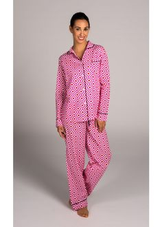 51bd8683f4 Malabar Bay Hopi Pink Pajama Set in classic cotton.