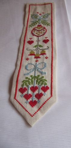 Beautiful swedish hand embroidered wall hanging / christmas