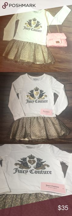 Leopard Juicy Couture Dress  Authentic Juicy Couture toddler dress. Size 2T. New with tags. Juicy Couture Dresses Casual