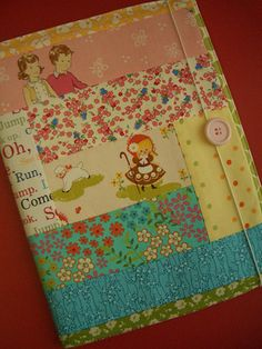 retro fabric covered journal