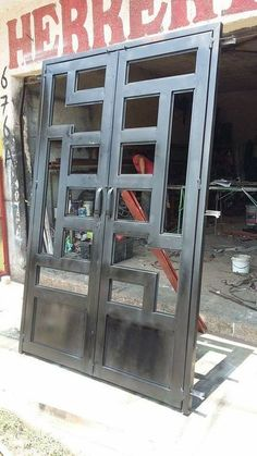 New Iron Door Design Ideas Metals Ideas Front Gate Design, Steel Gate Design, House Gate Design, Door Gate Design, Wrought Iron Security Doors, Wrought Iron Doors, Art Room Doors, Window Grill Design, Metal Gates