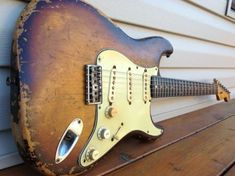 An awesome beat up 1959 Orig 2 Tone Strat... If only this guitar could talk...