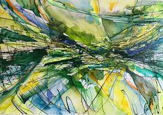 Orizzonte verde, Raffaella Losapio dipinto su tela, cm 100x70, dic. 2016