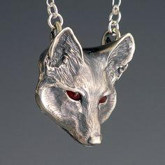 Fox Jewelry, Handcrafted Silver Jewelry Fox Pendant