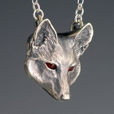 Fox Jewelry, Handcrafted Silver Jewelry Fox Pendant