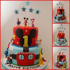 Mickey Mouse Clubhouse Cake - by itsacakething @ CakesDecor.com - cake decorating website