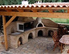 The Perfect Addition to the Home BBQ Hut – Home Decorating Outdoor Kitchen Patio, Pizza Oven Outdoor, Outdoor Kitchen Design, Outdoor Cooking, Outdoor Living, Backyard Pavilion, Backyard Patio Designs, Parrilla Exterior, Bbq Hut