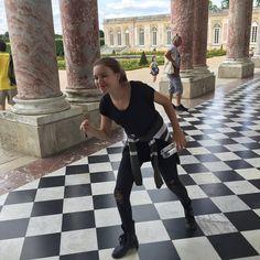 Checkmate! Bonnie at Versailles goofing around.