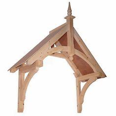 Oak Front Door Canopy Porch Hand Made Porch - Size 3 Front Door Canopy Roof, Porch Canopy, Front Door Porch, Awning Canopy, Porch Roof, Porch Timber, Timber Front Door, Wooden Front Doors, Wooden Door Hangers