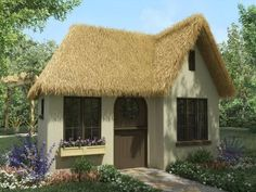 Neat thatched roof small house