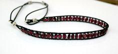 Jeweled Headband (Garnet), Boho Headband by Desperer on Etsy