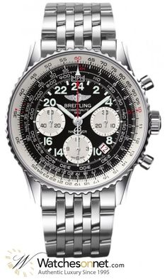 Breitling Navitimer Cosmonaute  Chronograph Automatic Men's Watch, Stainless Steel, Black Dial, AB021012.BB59.443A