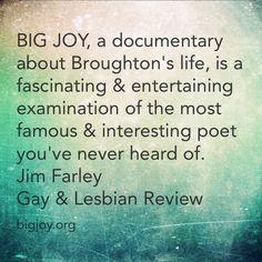 BIG JOY the film is a fascinating examination of an interesting #poet (James Broughton). #JamesBroughton #bigjoy #bigjoythefilm #film #documentary #press