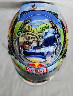 Sebastian Vettel, Red Bull Helmet, Interlagos, 2013