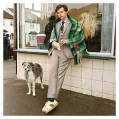 On set at a fish and chip shop in Northern London, @harrystyles appears in the new men's #GucciTailoring campaign wearing the House's…