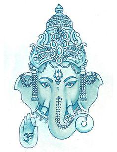 I really want a Ganesh tattoo! Om on Ganesh, Remover of Obstacles Ganesh Tattoo, I Tattoo, Tattoo Time, Namaste, Om Gam Ganapataye Namaha, Elefante Hindu, Elephant Tattoos, Elephant Art, Lord Ganesha