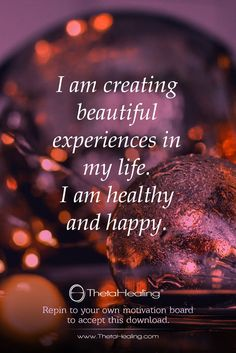 I am creating beautiful experiences in my life. I am healthy and happy. Healing Affirmations, Positive Affirmations Quotes, Morning Affirmations, Affirmation Quotes, Positive Quotes, Positive Life, Positive Thoughts, Mantra, A Course In Miracles