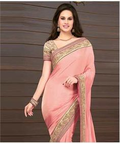 Poly Crepe Saree with Blouse   I found an amazing deal at fashionandyou.com and I bet you'll love it too. Check it out!