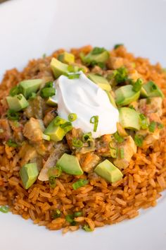 The NEW Arroz Con Pollo lunch bowl.