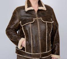Дубленка коричневая №8768 – купить в интернет-магазине на Ярмарке Мастеров с доставкой