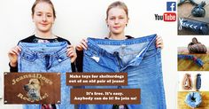 JEANS4DOGS  Our mission | Making toys for rescuedogs all over the world out of an old pair of jeans.  How? We design some easy no sew dog toys. We make free tutorial video's in English and Dutch. We put them on Jeans4Dogs at YouTube and Facebook. So you can make them at home or at school. And give them to your local shelter.  It's free. It's easy. Anybody can do it. So join us! And make rescuedogs happy!