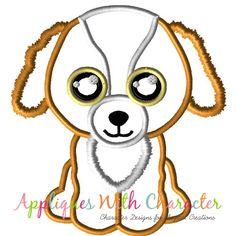 78c7be6b943 Beanie Boo Dog Tala Applique Design by Appliques With Character Beanie Boo  Dogs