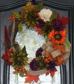 Fall Festive Wreath by hgab129 on Etsy, $65.00