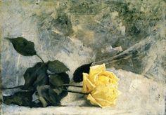 Yellow Roses - Dennis Miller Bunker  Impressionism