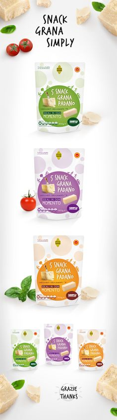 Snack Grana Padano by Viola Moroni, via Behance Packaging Snack, Biscuits Packaging, Cheese Packaging, Juice Packaging, Cool Packaging, Food Packaging Design, Packaging Design Inspiration, Brand Packaging, Patatas Chips