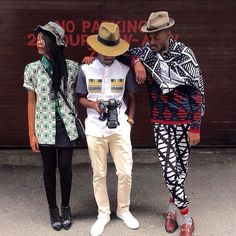 """In @maxhosa pattern power with @asandasizani & @trevor_stuurman prior to our shoot in Cape Town 