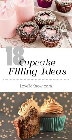 If you're tired of the same old boring bland cupcakes, make your really shine by adding a cupcake filling. Choose from a variety of homemade cupcake filling recipes, or pick ready-made ingredients which come in handy when you're short on time. Gourmet Cupcakes, Cupcake Filling Recipes, Cupcake Recipes From Scratch, Fancy Cupcakes, Wedding Cupcakes, Birthday Cupcakes, Cupcake Fillings, Chocolate Cupcake With Filling Recipe, Wedding Cupcake Recipes