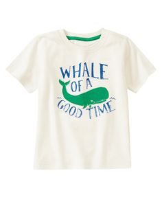 Whale Tee at Gymboree