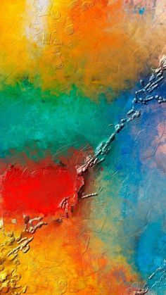 Abstract colorful weird painting mobile wallpaper