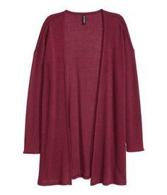 Rib-knit Cardigan | Burgundy | Ladies | H&M US