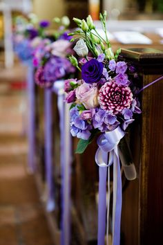 Color of the Year Violet Wedding Ideas to Inspire! Color of the Year Violet Wedding Ideas to Inspire! Church Wedding Flowers, Church Wedding Decorations, Purple Wedding Flowers, Chapel Wedding, Wedding Colors, Wedding Bouquets, Dream Wedding, Wedding Ideas, Trendy Wedding