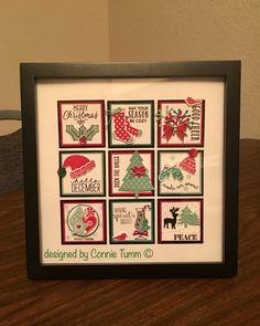 Card Making 2016 Christmas Collage Christmas Collage, Christmas Paper Crafts, Christmas Frames, Stampin Up Christmas, Christmas Tag, Diy Christmas Gifts, Christmas Projects, Christmas Ideas, Xmas Cards