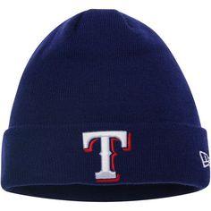 Texas Rangers New Era Solid Cuffed Knit Hat - Royal 5a47afa457b