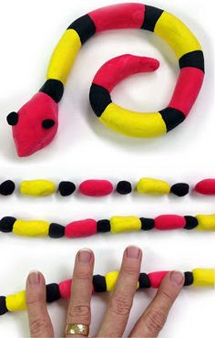 Art projects for kids: model magic coral snake art projects, animal projects, 3d Art Projects, Animal Projects, Projects For Kids, Crafts For Kids, Project Ideas, Drawing Lessons For Kids, Art Lessons, Common Core Art, Easy Clay Sculptures