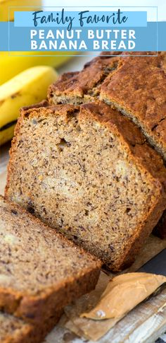 Peanut butter banana bread is an easy quick bread that's made with 10 common ingredients! It only takes 10 minutes to prep, plus you can add chocolate chips for a delicious banana bread with peanut butter! #peanutbutterbananabread #peanutbutterbread #bananabread #quickbread