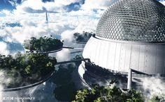 futuristic  biodome | 未来世界