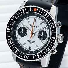 Gigandet Speed Timer Herren Armbanduhr Chronograph Analog Quarz Weiß Schwarz G7-006